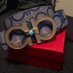 Ferragamo belt blue